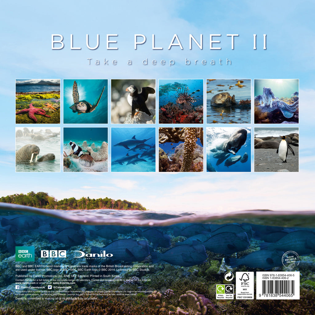 Blue Planet II Calendar 2021 BACK