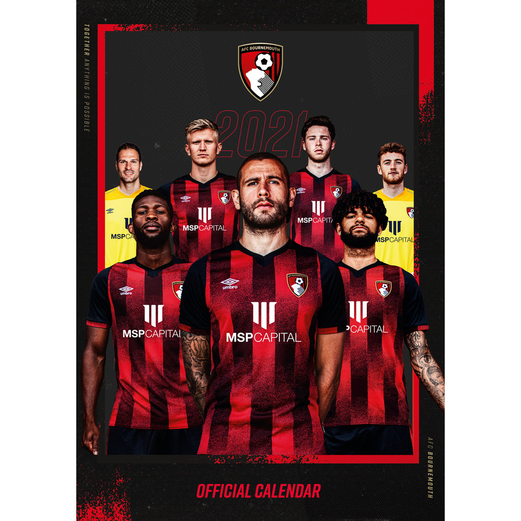 AFC Bournemouth 2021 A3 Wall Calendar Front