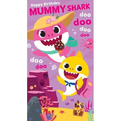 Baby Shark Mummy Shark Birthday Card