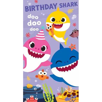 Baby Shark Birthday Shark Card