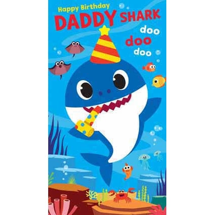 Baby Shark Daddy Birthday Card