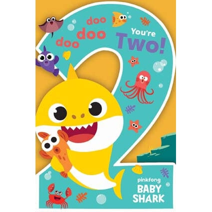 Baby Shark 2nd Birthday Card