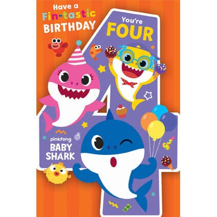 Baby Shark 4th Birthday Card