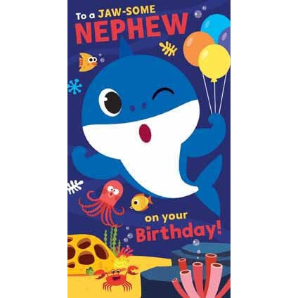 Baby Shark Nephew Birthday Card