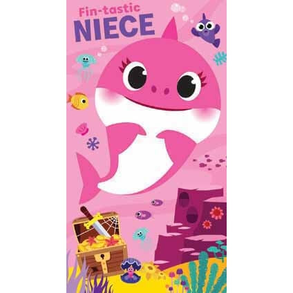 Baby Shark Niece Birthday Card