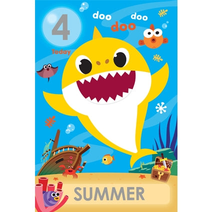 Baby Shark Personalise Age/Name Card