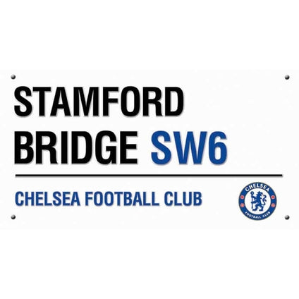 Chelsea Stamford Bridge Street Sign Greeting Card