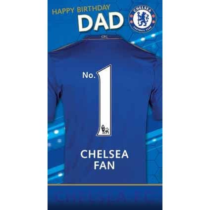 Chelsea Happy Birthday Greeting Dad Card