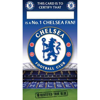 Chelsea Certificate Birthday Greeting Card