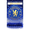 Chelsea FC Any Name Christmas Card Front 2