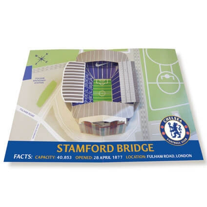 Chelsea Stamford Bridge Stadium Pop Up Birthday Card