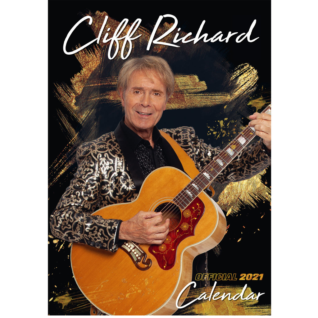Cliff Richard A3 Official 2021 Calendar Front Cover