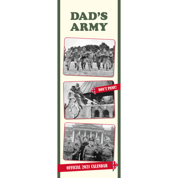 Dad's Army Official 2021 Slim Calendar Front