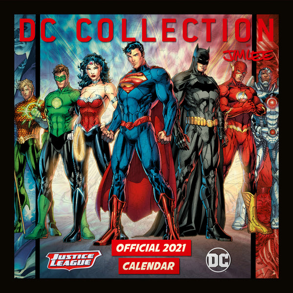DC Comics Official 2021 Square Wall Calendar Front