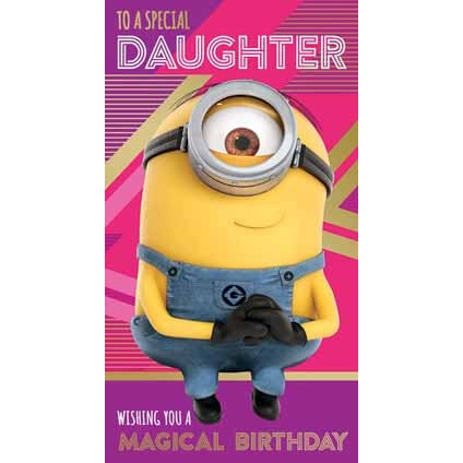 Despicable Me 3 Minion Daughter Birthday Card