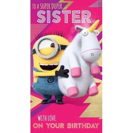 Despicable Me 3 Minion Sister Birthday Card