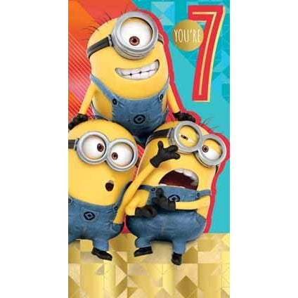 Despicable Me 3 Minion Age 7 Birthday Card