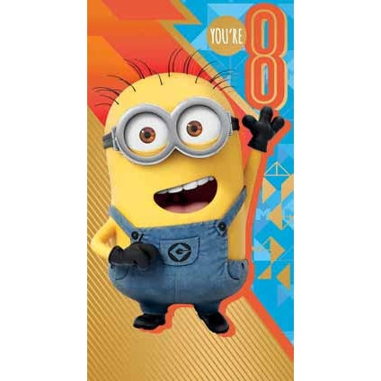 Despicable Me 3 Minion Age 8 Birthday Card
