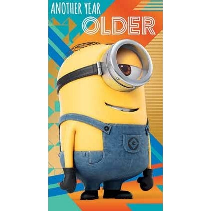 Despicable Me 3 Minion Another Year Older Birthday Card