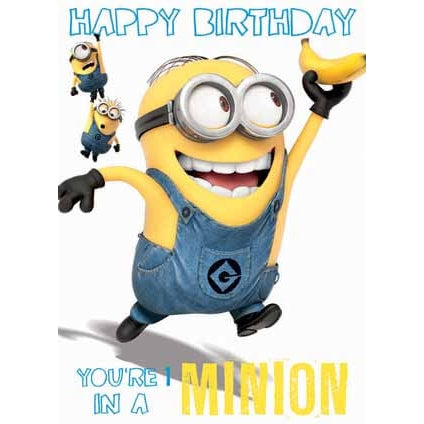 Despicable Me Minion 1 In A Minion Birthday Card