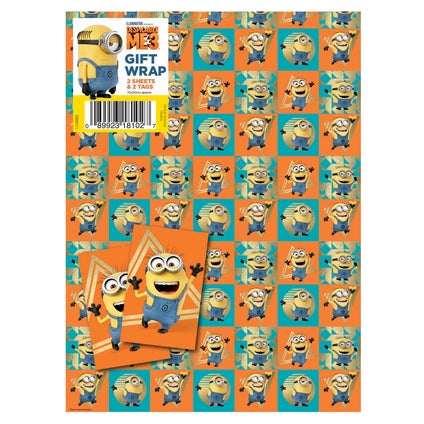 Despicable Me 3 Minion 2 Sheets and Tags