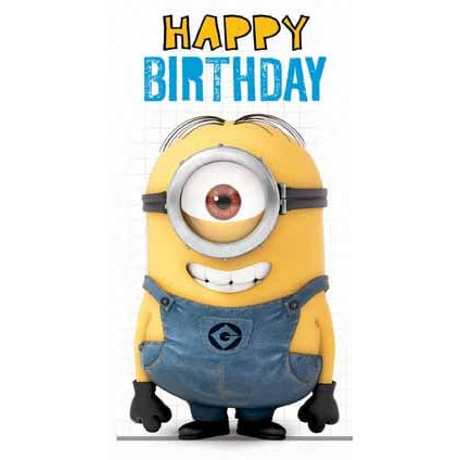 Despicable Me Minion General Fold Out Birthday Card