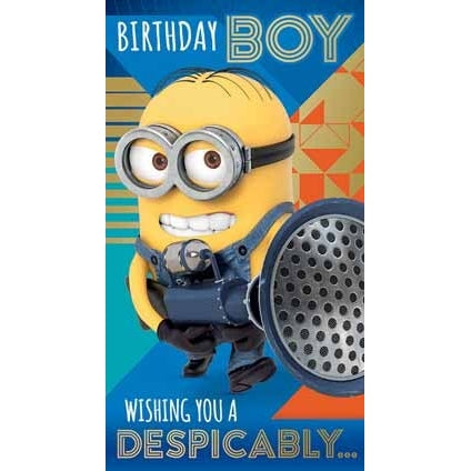 Despicable Me 3 Minion Birthday Boy Card