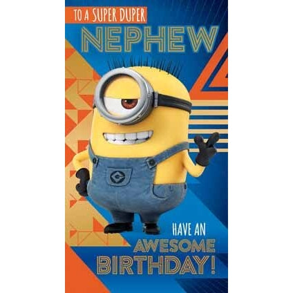 Despicable Me 3 Minion Nephew Birthday Card