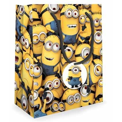 Despicable Me All Over Minion Print Small Gift Bag
