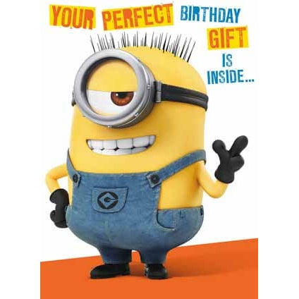 Despicable Me Minion 3D Birthday Card