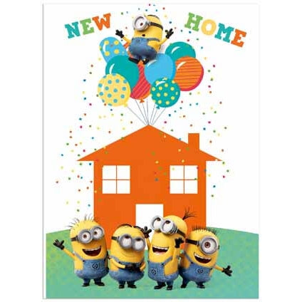 Despicable Me Minion New Home Card