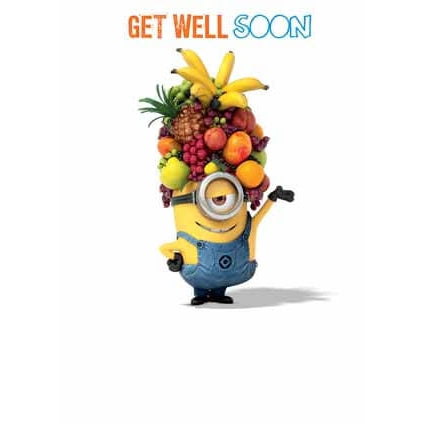 Despicable Me Minion Get Well Soon Card