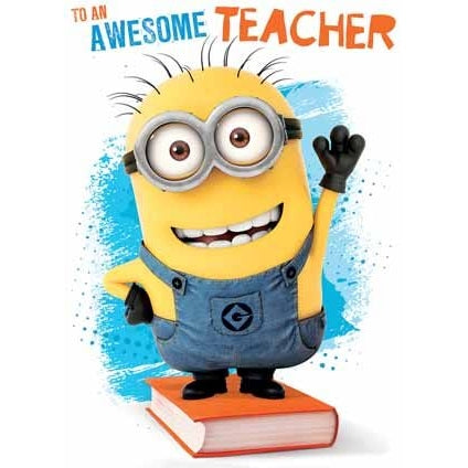 Despicable Me Minion Awesome Teacher Card