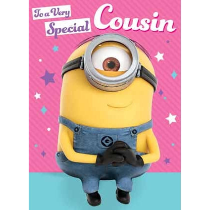 Despicable Me Minion Special Cousin Birthday Card