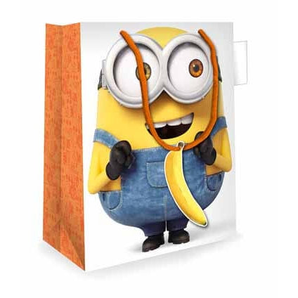 Despicable Me 3 Minion Moving Eyes Medium Gift Bag