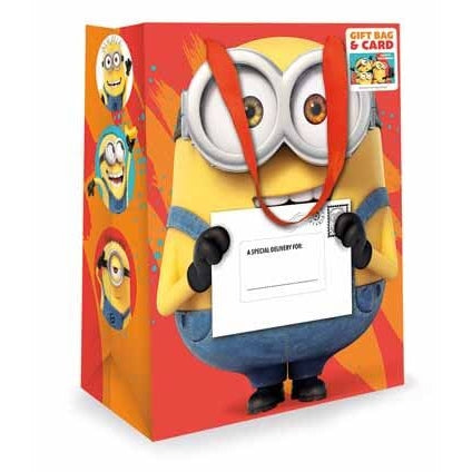 Despicable Me Medium Gift Bag & Birthday Card