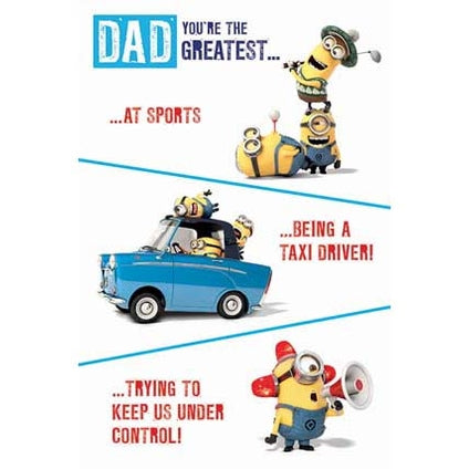 Despicable Me Minion Father's Day Dad You're The Greatest Card