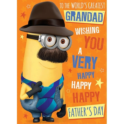 Despicable Me Minion Father's Day Grandad Card