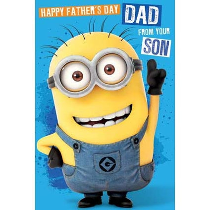 Despicable Me Father's Day Card From Son