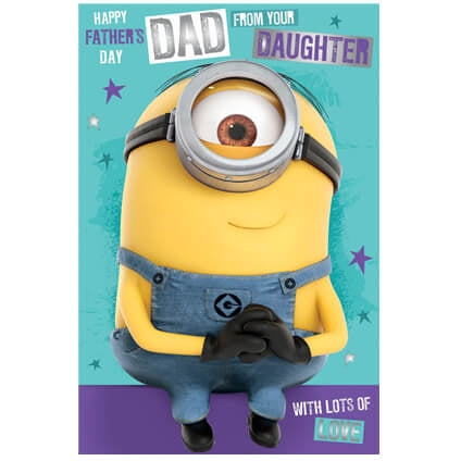 Despicable Me Father's Day Card From Daughter