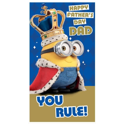 Despicable Me King Bob Fathers Day Card