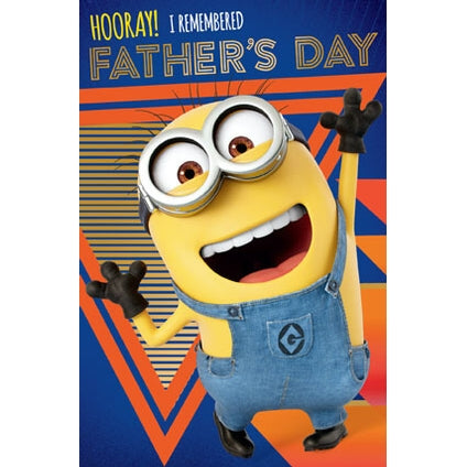 Despicable Me Fathers Day I Remembered Card
