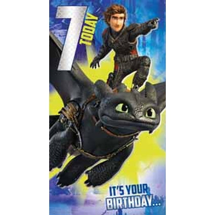 How to Train your Dragon Age 7 Birthday Card