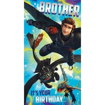 How to Train your Dragon Brother Birthday Card
