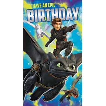 How to Train your Dragon Epic Birthday card