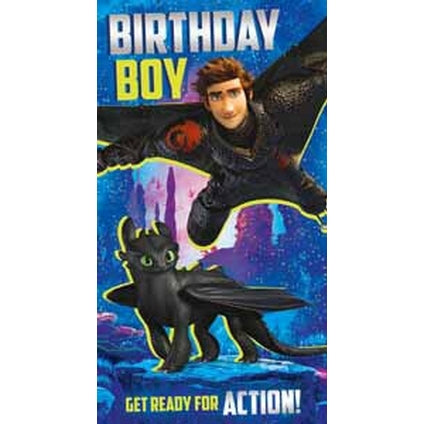 How to Train your Dragon Birthday Boy Card