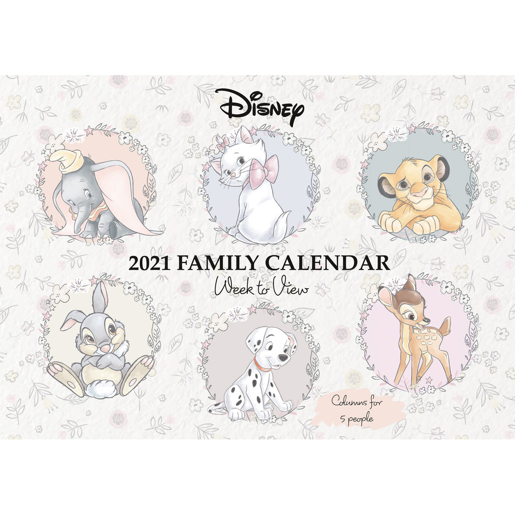 Disney Heritage Family Calendar 2021 FRONT
