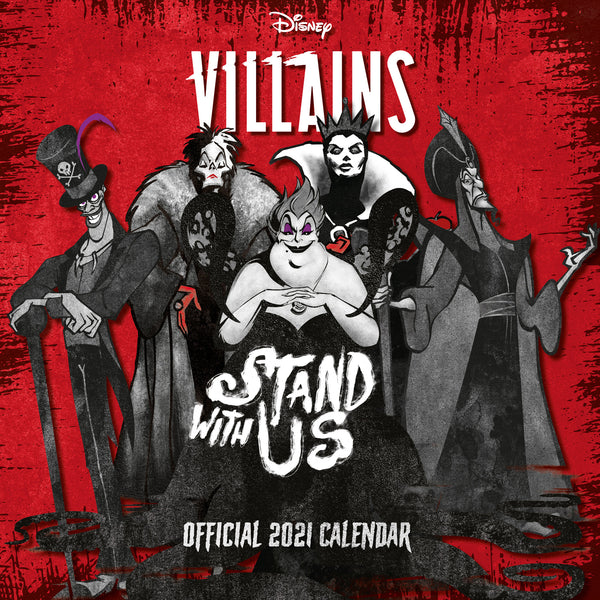 Disney Villains Official 2021 Square Wall Calendar 2021 FRONT