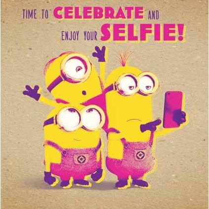 Despicable Me Crafty Minions Selfie Card