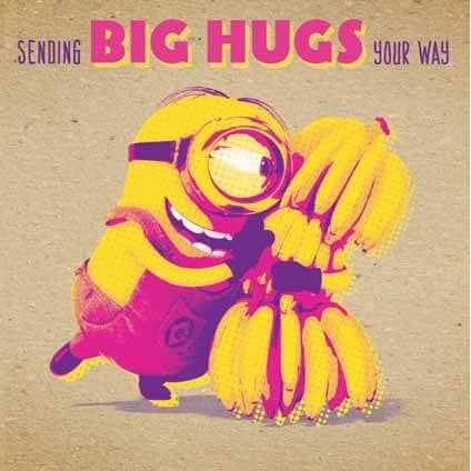 Despicable Me Crafty Minions Big Hugs Card